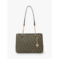 Dkny Bryant Logo Medium Tote Bag, Ebony/black