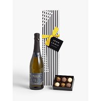 John Lewis and Partners Single Prosecco and Chocolates Gift