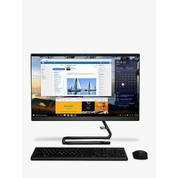 Lenovo IdeaCentre A340-24IWL All-in-One Desktop PC, Intel Core i3 Processor, 8GB RAM, 1TB HDD, 23.8 Full HD, Black