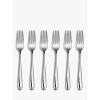 John Lewis & Partners Arc Pastry Forks, Set of 6