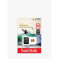 SanDisk Extreme UHS-I, A2, MicroSD (SDXC) Card, up to 160MB/s Read Speed, 64GB with SD Adapter