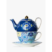 T2 Portuguese Tiles Teapot For One, 440ml, Navy