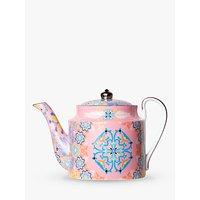 T2 Portuguese Tiles Small Teapot, 400ml, Dusty Pink