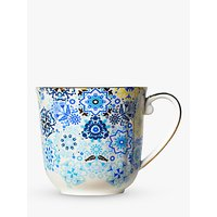 T2 Portuguese Tiles Pretty Mug, 350ml, Navy
