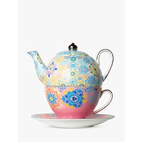 T2 Portuguese Tiles Teapot For One, 440ml, Dusty Pink