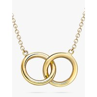 shop for IBB 9ct Gold Linked Ring Pendant Necklace, Gold at Shopo