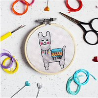 The Make Arcade Llama Cross Stitch Mini Craft Kit