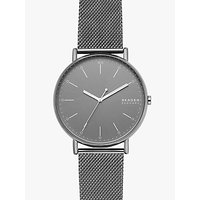 Skagen SKW6549 Mens Signatur Mesh Bracelet Strap, Silver/Grey