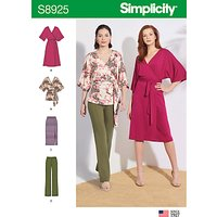 Simplicity Women's Skirt, Trousers, Top and Dress Sewing Pattern, 8925