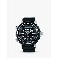 Seiko SNJ025P1 Men's Prospex Arnie Solar Date Silicone Strap Watch, Black