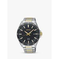 Seiko SNE485P1 Mens Solar Date Bracelet Strap Watch, Silver/Gold