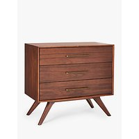 shop for west elm Wright 3 Drawer Chest, FSC Certified (Eucalyptus), Brown at Shopo