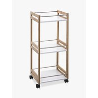 image-Hahn 5five Small Kitchen Trolley, Bamboo