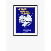 The Man Who Fell To Earth - Vintage Film Poster Ash Wood Framed Print & Mount, 82 x 62cm, Blue