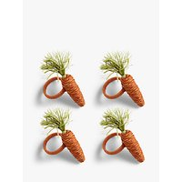 John Lewis and Partners Easter Carrot Napkin Rings, Set of 4, Orange