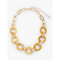 shop for John Lewis & Partners Statement Resin Link Short Necklace, Yellow/Gold at Shopo