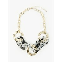 shop for John Lewis & Partners Resin Hoop Chain Necklace, Gold/Multi at Shopo
