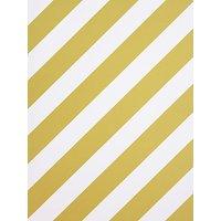 House by John Lewis Diagonal Stripe Wallpaper, Yellow