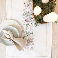 Rico Design Christmas Star Motif Runner Embroidery Kit
