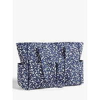 John Lewis & Partners Leaf Print Craft Bag, Navy