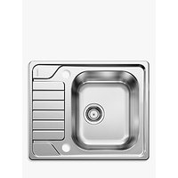 Blanco Dinas 45S Single Bowl Inset Kitchen Sink, Stainless Steel