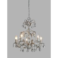 John Lewis and Partners Arbour Crystal Chandelier Ceiling Light, Cream