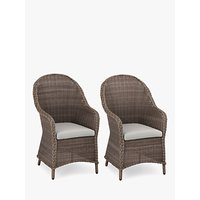 John Lewis and Partners Rye Garden Dining Armchairs, Set of 2, Natural
