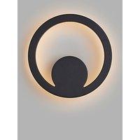 image-John Lewis & Partners Lunar LED Outdoor Wall Light, Black