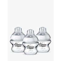 Tommee Tippee Closer To Nature Anti-Colic Baby Bottles, Pack of 3, 150ml