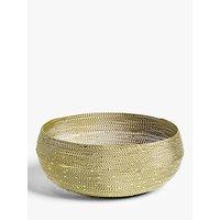John Lewis & Partners Wire Round Bread Basket, 22.9cm, Gold