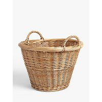 John Lewis and Partners Willow Storage Basket with Handle