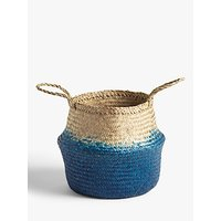John Lewis and Partners Blue Ombre Seagrass Basket