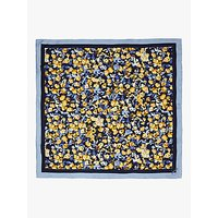 Joules Bloomfield Floral Silk Square Scarf, Navy/Multi