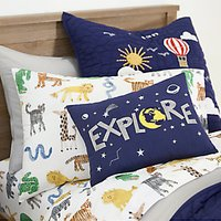 Pottery Barn Kids Cotton Silly Safari Sheet and Pillow Case Set, 89 x 191cm, Multi