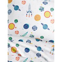 Pottery Barn Kids Solar System Flat Sheet, Fitted Sheet and Pillow Case Set