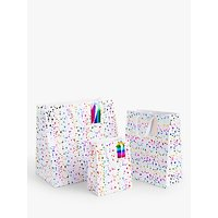 John Lewis & Partners Rainbow Splatter Gift Bag