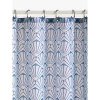 image-John Lewis & Partners Scallop Shell Slub Shower Curtain