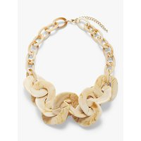 John Lewis & Partners Resin Link Statement Necklace, Nude