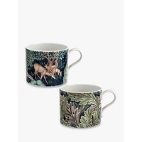 Morris and Co. The Brook/Acanthus Mugs, Set of 2, 340ml, Multi