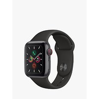 Apple Watch Series 5 GPS + Cellular, 40mm Space Grey Aluminium Case with Black Sport Band