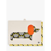 Orla Kiely Dachshund Dog Tea Towels, Set of 2, Citrine/Multi