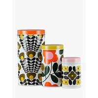 Orla Kiely Flower Stems Storage Canisters, Set of 3, Multi