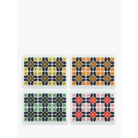 Orla Kiely Flower Tile Placemats, Set of 4, Multi
