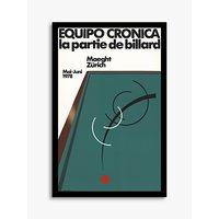 Galerie Maeght - The Billiard Party Exhibition Poster Framed Print, 73.5 x 48cm, Green/Multi