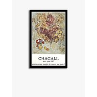 Galerie Maeght - Marc Chagall 'Dark Flowers' Exhibition Poster Framed Print, 69.5 x 46cm