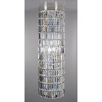 Impex Crystal Art Chandelier Ceiling Light, Clear/Nickel