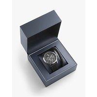 shop for Tommy Hilfiger Kyle 2770058 Men's Leather Strap Watch and Bracelet Gift Set, Black at Shopo