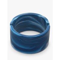 shop for John Lewis & Partners Chunky Marble Resin Hinged Bangle, Blue at Shopo