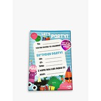 Tinc Party Colourful Characters Party Invitations, Set of 10