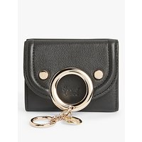 See By Chloé Mara Mini Tri-Fold Leather Purse, Black
